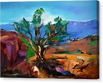 Among The Red Rocks - Sedona Canvas Print by Elise Palmigiani