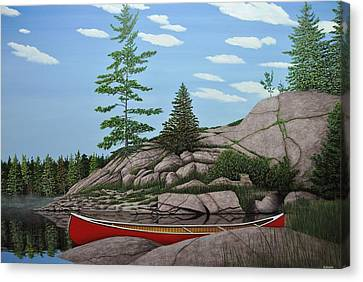 Among The Rocks II Canvas Print by Kenneth M  Kirsch
