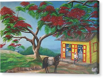 Amor De Campesino Canvas Print by Toyo Perez