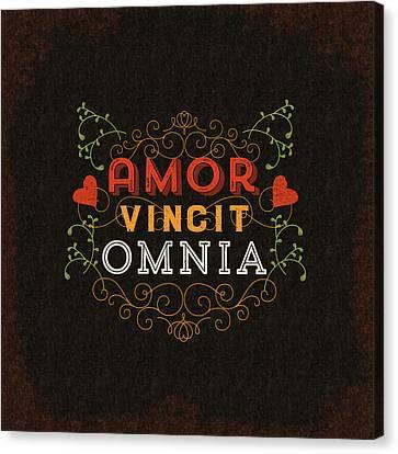 Amor Vincit Omnia Canvas Print by Antique Images
