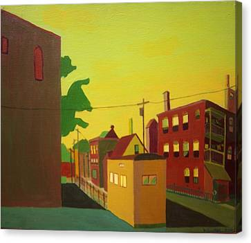 Amory Street Jamaica Plain Canvas Print by Debra Bretton Robinson