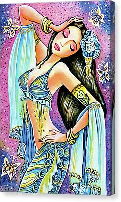 Canvas Print featuring the painting Amrita by Eva Campbell
