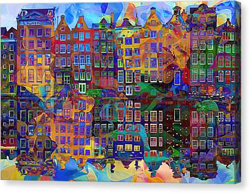 Amsterdam Abstract Canvas Print by Jacky Gerritsen