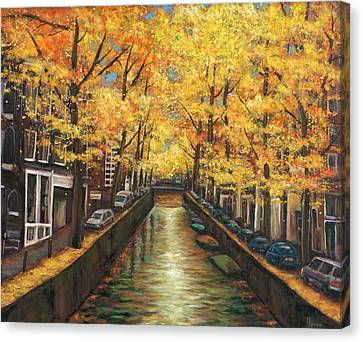 Amsterdam Autumn Canvas Print