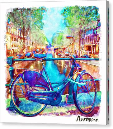 Amsterdam Bicycle Canvas Print by Marian Voicu