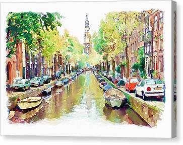 Amsterdam Canal 2 Canvas Print by Marian Voicu