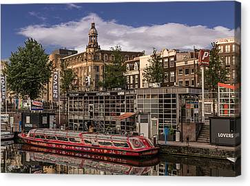 Amsterdam Canal Cruises Canvas Print by Capt Gerry Hare