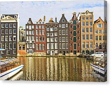 Unique View Canvas Print - Amsterdam Canal by Giancarlo Liguori