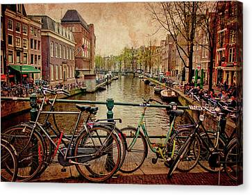 Amsterdam Canal Canvas Print by Jill Smith