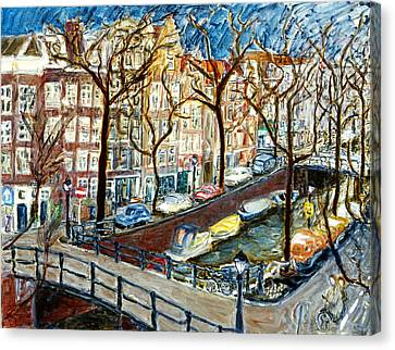 Amsterdam Canal Canvas Print by Joan De Bot