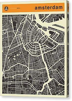 Amsterdam Map Canvas Print