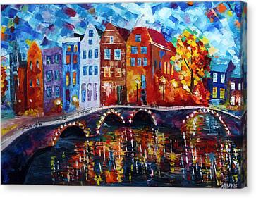 Redlight Canvas Print - Amsterdam Nights by Jason  Sauve