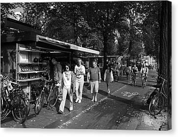 Amsterdam Street Market Canvas Print