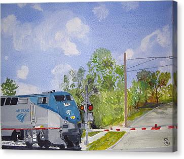Amtrak Canvas Print