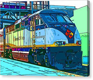 Amtrak Locomotive Study 2 Canvas Print by Samuel Sheats