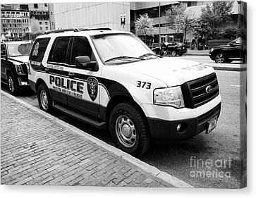 amtrak police k-9 unit dog patrol vehicle Boston USA Canvas Print