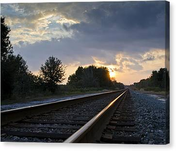 Amtrak Railroad System Canvas Print by Carolyn Marshall