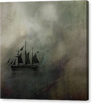Canvas Print featuring the digital art Amundsen And Fram by Andy Walsh