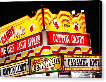 Amusement Park Concession Stand Food Sign Canvas Print by Paul Velgos