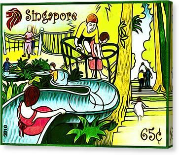 Amusement Park In Singapore 3 Canvas Print