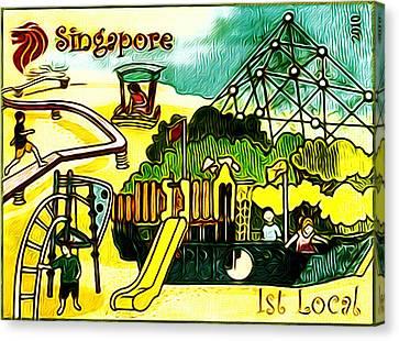 Amusement Park In Singapore 5 Canvas Print