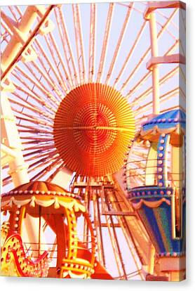 Amusement Rides Canvas Print by Eric  Schiabor