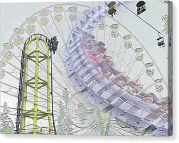 Amusements - Lagoon Theme Park Canvas Print by Steve Ohlsen