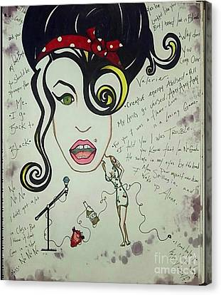 Booze Canvas Print - Amy by Alexis Rockway