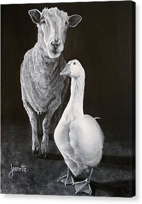 Amy And Gracie Canvas Print
