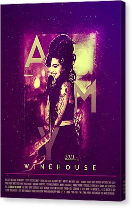 Rhythm And Blues Canvas Print - Amy Winehouse Back To Black Lyric by BONB Creative