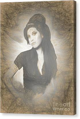 Full-length Portrait Canvas Print - Amy Winehouse by Galambosi Tamas