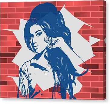 Amy Winehouse Graffiti Tribute Canvas Print