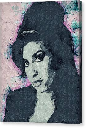 Pop Culture Canvas Print - Amy Winehouse Illustration by Studio Grafiikka