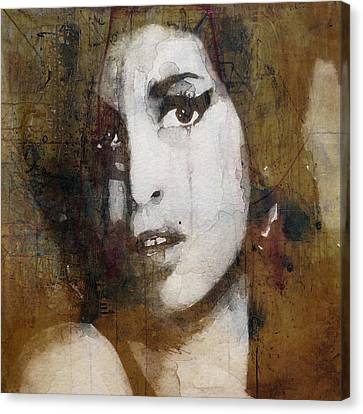 Female Canvas Print - Amy Winehouse Love Is A Losing Game  by Paul Lovering