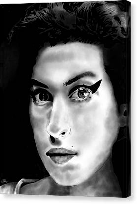 Amy Winehouse Canvas Print by Penny Ovenden