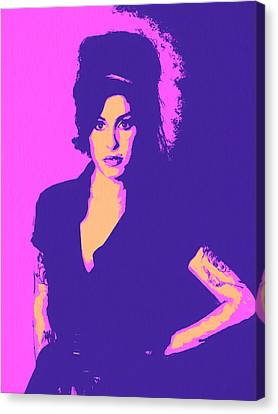 Singing Canvas Print - Amy Winehouse Pop Art by Dan Sproul