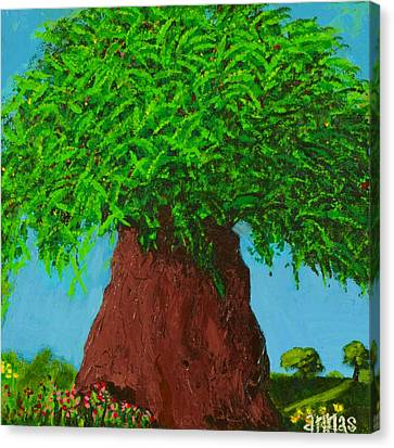 Amy's Tree Canvas Print by Angela Annas
