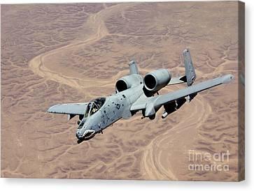 An A-10 Thunderbolt Soars Canvas Print