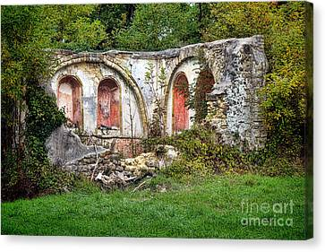 An Abandoned Chapel In France  Canvas Print by Olivier Le Queinec