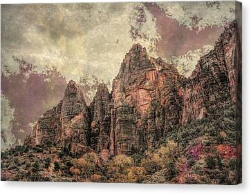 Canvas Print featuring the photograph An Abstract Of Zion by John M Bailey