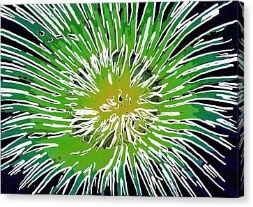 An Abstract Scene Of Sea Anemone 2 Canvas Print