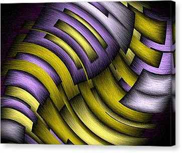 Canvas Print featuring the digital art An Abstract Slope by Terry Mulligan