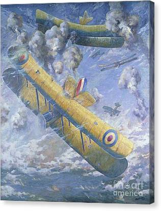 An Aerial Fight, Wwi Canvas Print