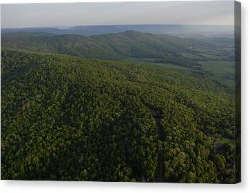 An Aerial View Of The Cumberland Canvas Print by Stephen Alvarez