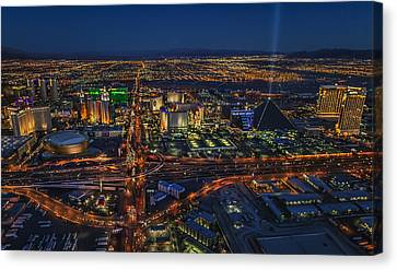 An Aerial View Of The Las Vegas Strip Canvas Print