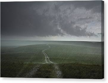 An Afternoon Thunderstorm Coming Canvas Print