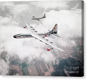 An Air-to-air View Of The Convair Nb-36h Peacemaker Canvas Print by Celestial Images