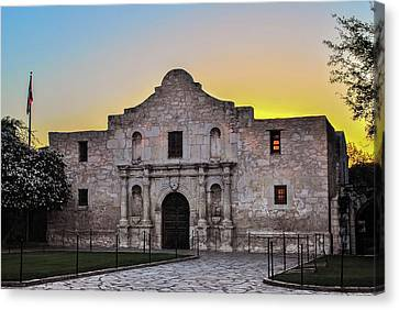 An Alamo Sunrise - San Antonio Texas Canvas Print by Gregory Ballos