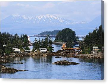 Canvas Print featuring the photograph An Alaska Village by Laurinda Bowling