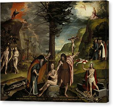 An Allegory Of The Old And New Testaments Canvas Print by Hans Holbein the Younger